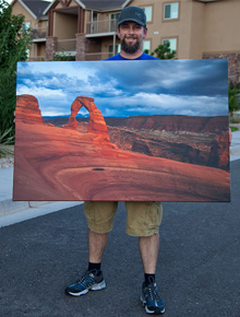Delicate Arch Storm canvas print by photographer Bret Edge